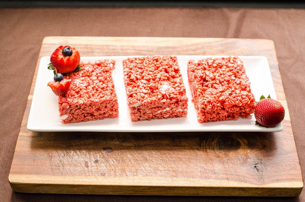 Gluten-Free Strawberry Rice Crispy Treats - Made at Hana NY Brooklyn Commercial Rental Kitchen