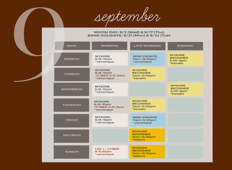 Schedule: 1 ~ 30 Sep