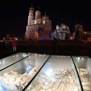 Остатки фундамента Чудова монастыря, г. Москва, Кремль
