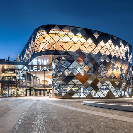 Tvitec оформляет новый самый модный торговый центр Словении с помощью технологий Tecglass!