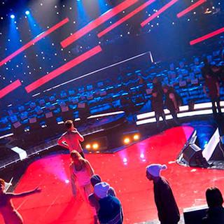 Сцена телешоу «Красная Звезда»,Первый Канал, г. Москва