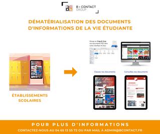 Dématérialisation des documents d'informations de la vie étudiante