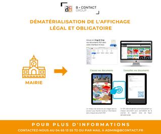 Mairies, dématérialiser votre affichage légal et obligatoire