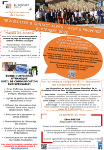 NEWSLETTER SEPTEMBRE 2020