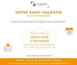 Offre Saint-Valentin