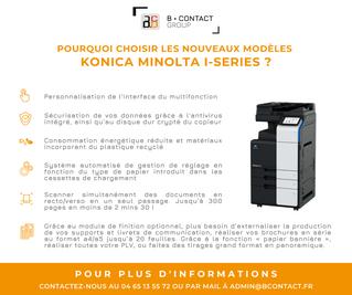 Les nouveaux modèles Konica Minolta I-series