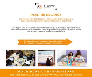 Plan de relance écoles du numérique