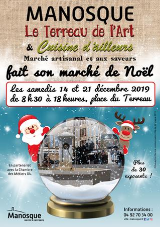MARCHE DE NOEL MANOSQUE 21 décembre 2019 ! ✨ Mis en place par la Ville de Manosque, en partenariat a