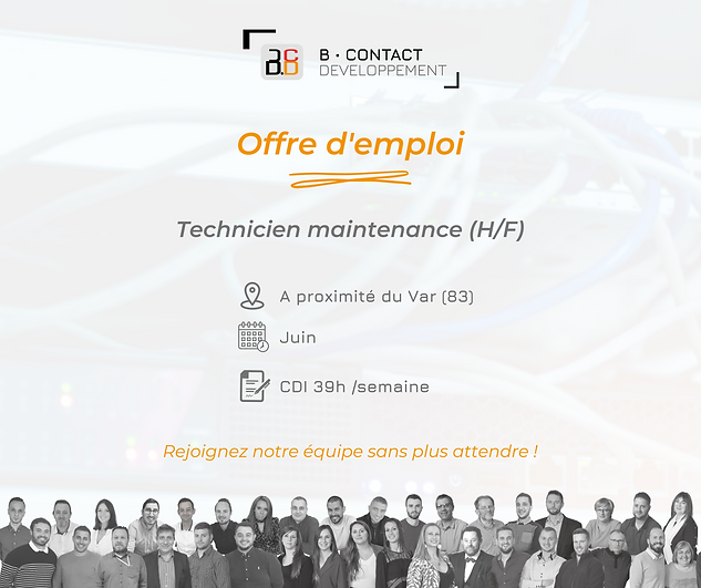 offre d'emploi B Contact Technicien de maintenance