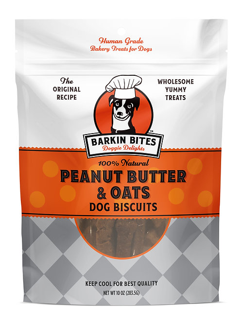 Peanut Butter & Oats | Healthy Dog Treats | Barkin Bites Doggie