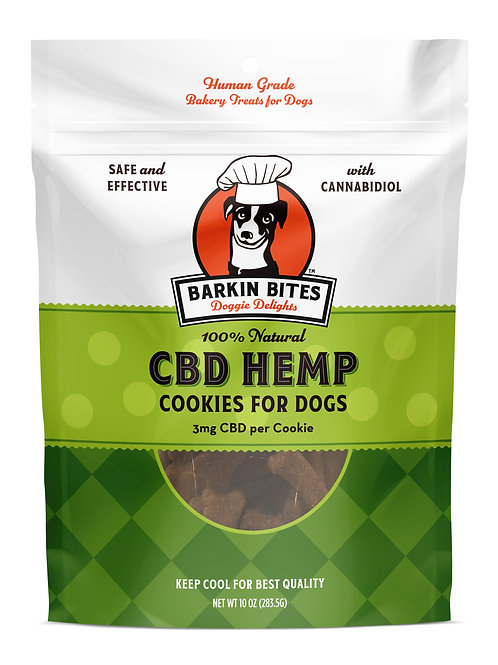 CBD Hemp Cookies 10oz | Best CBD Dog Treats | Barkin Bites Doggie
