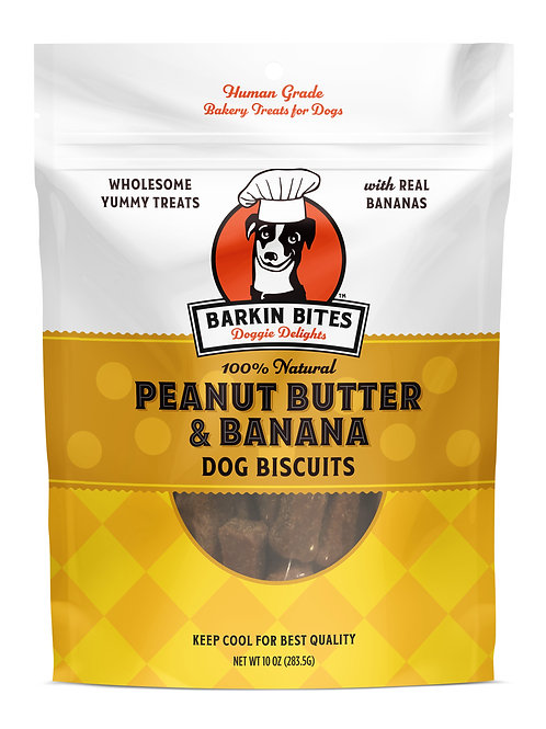 Peanut Butter & Banana All Natural Dog Treats