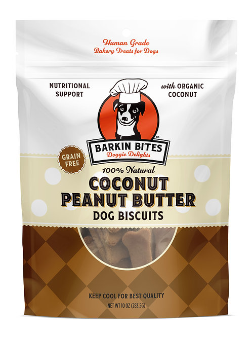 Coconut Peanut Butter Biscuits All Natural Dog Treats