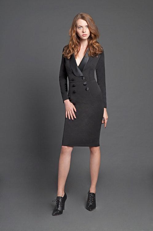Коктейльное черное  платье карандаш FOREL