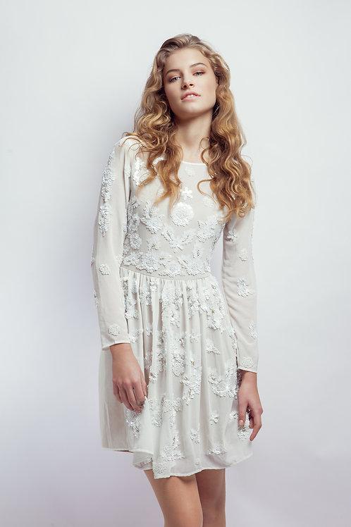 Коктейльное белое летнее платье YOUNG COUTURE BY BARBARA SCHWARZER
