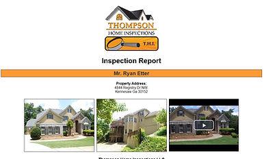 Thompson Home Inspectios sample report, kennesaw,mariett,woodstock,atlanta home inspections