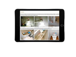 Mobile  view of inspection report, kennesaw,marietta,acworth,woodstock,atlanta,cumming home inspections