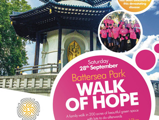 Brain Tumour Research Walk of Hope Sat 28th Sept