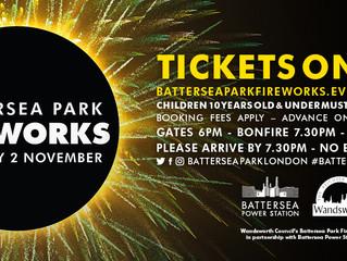Battersea Park Fireworks Sat Nov 2