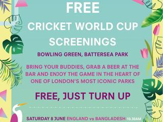 THIS WEEKEND: Free Cricket World Cup Screening + Children's Outdoor Cinema