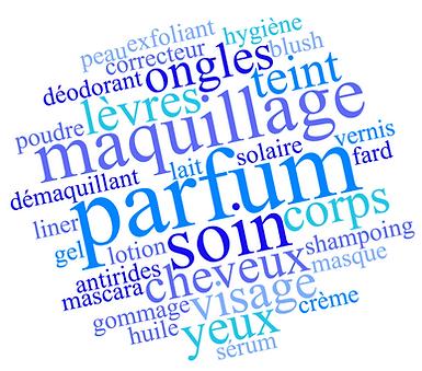 mots clés cosmétiques