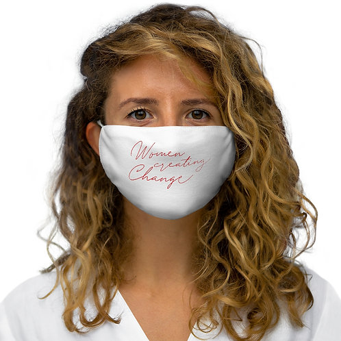 Woman Creating Change Face Mask
