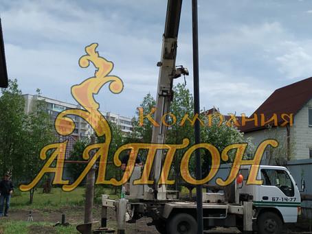 Монтаж винтовых свай под крыльцо г. Ленинск-Кузнецк.