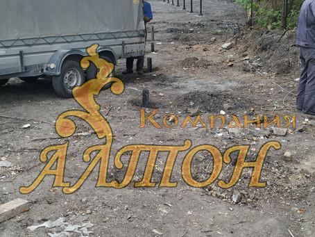 Изготовление и Монтаж винтовых свай под забор. г. Кемерово.