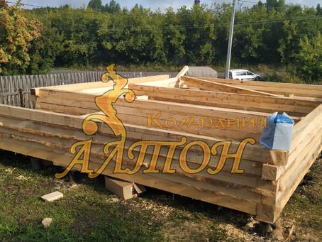 Строительство дома на винтовых сваях. г. Кемерово.