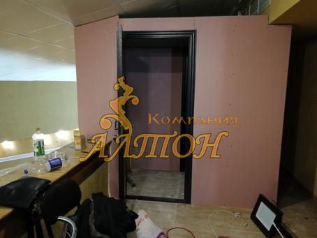 Изготовление и монтаж комнаты для проектора кинотеатра.  пгт. Тяжинский.