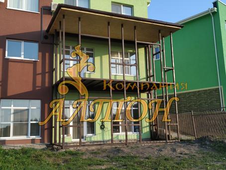 Монтаж Металлоконструкции под 2 этажную пристройку. г. Кемерово Лесная поляна