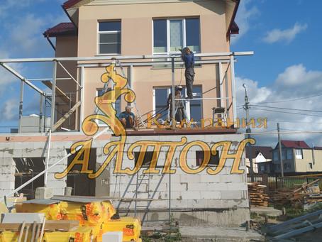 Монтаж Металлоконструкции под второй этаж. г. Кемерово. Лесная поляна