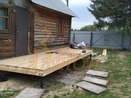 Монтаж крыльца. д. Сарапки
