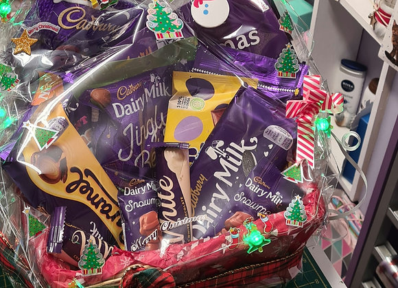 Chocolate Lovers, Available as a hamper box or a hamper Bouque