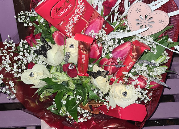 Flower & Chocolate or sweet Bouquet