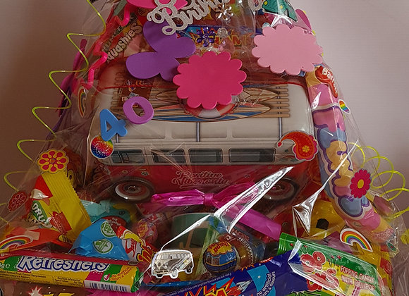 Tons of Sweets, Available as a hamper box or a hamper Bouquet