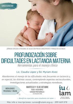 Dificultades en lactancia materna