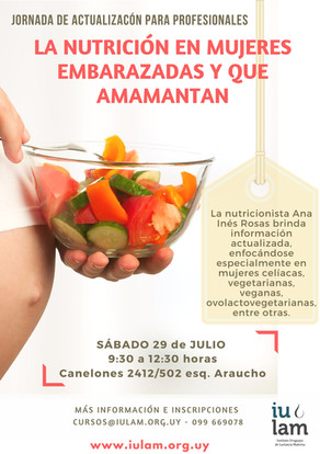 La nutrición en mujeres embarazadas y que amamantan
