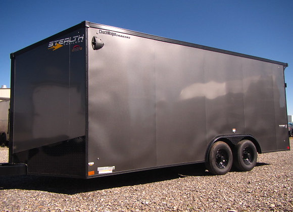 Stealth Titan *** 8.5x18 *** Screwless Exterior With Black-Out Pkg