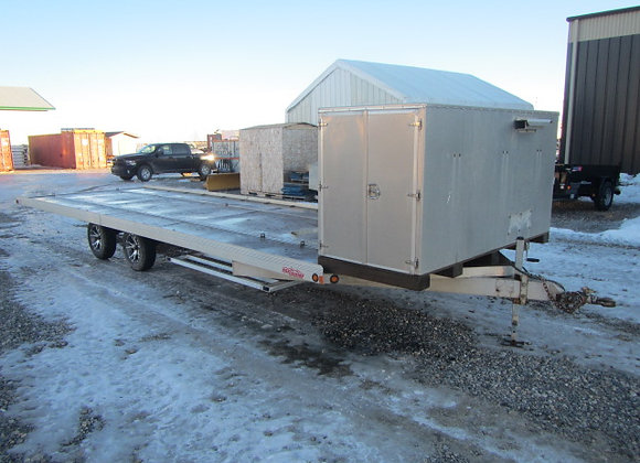 "High Country Trailers, 101""x 26' Deckover open sled trailer"