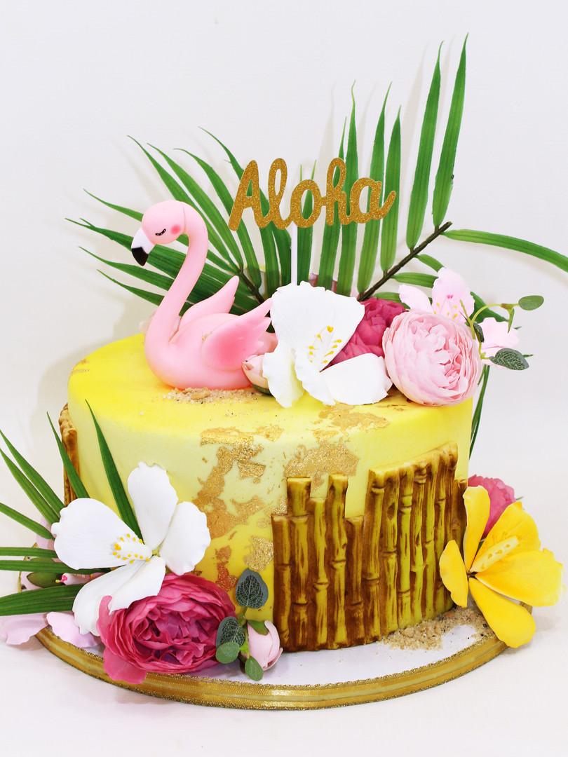 Flamingo Aloha Cake