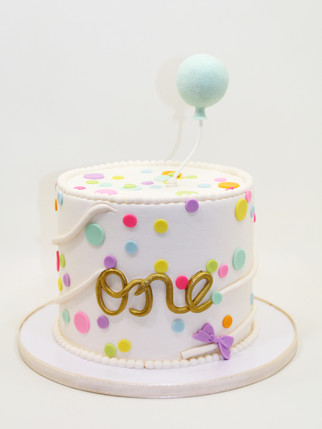 """Sweet """"One"""" Cake"""