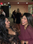 Laughing at the holiday party