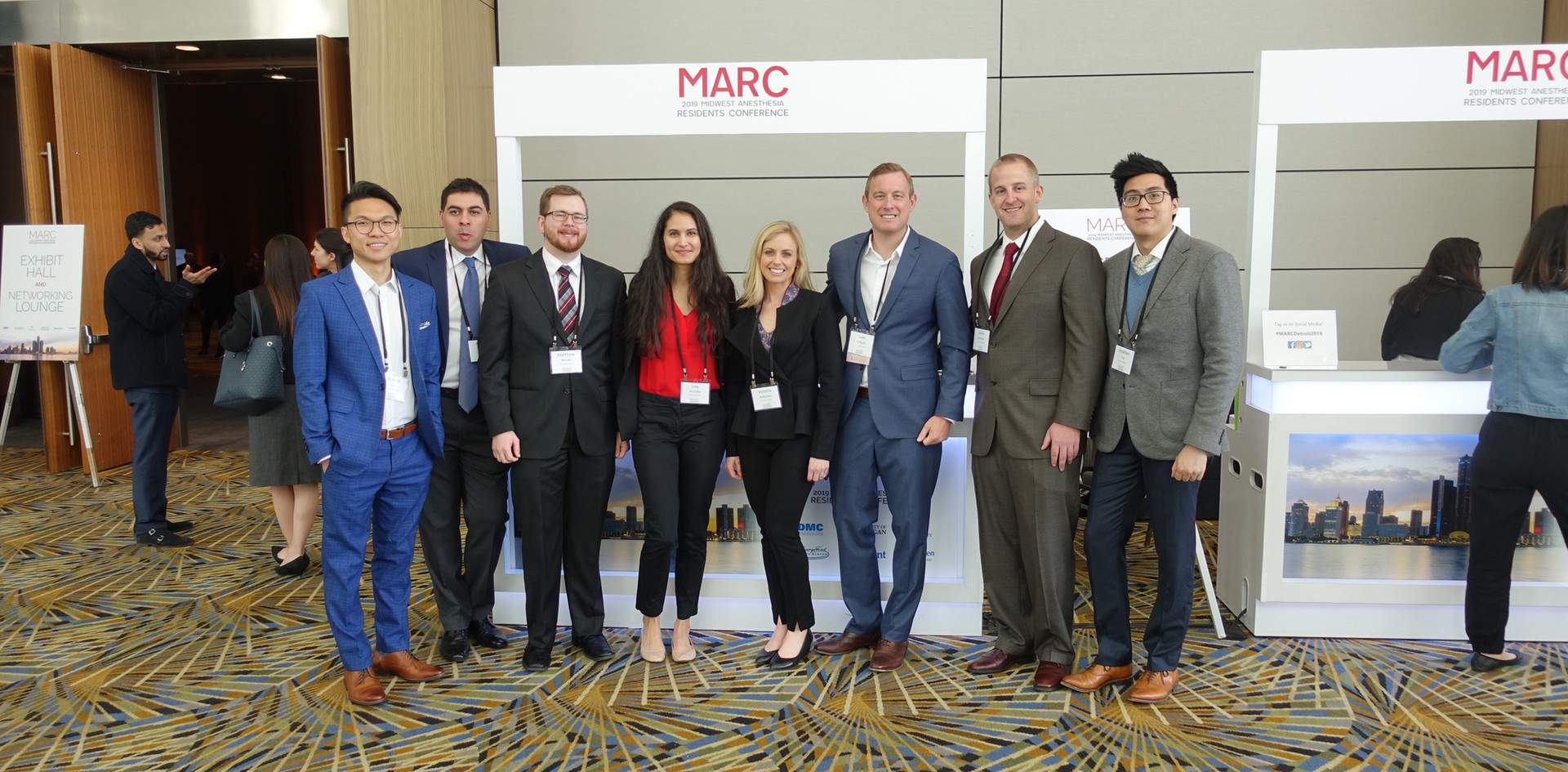 Our residents participating in MARC conference. Each year we allocate protected education time for CA-1s to participate in MARC.