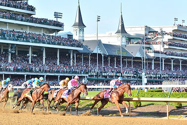 Horses running in the Kentucky Derby