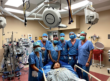 Dr. Daisy Sangroula and residents during OB Anesthesia Simulation