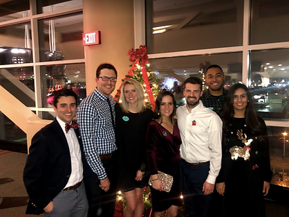 Residents and spouses at Holiday Party