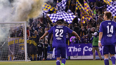 LouCity FC players during game