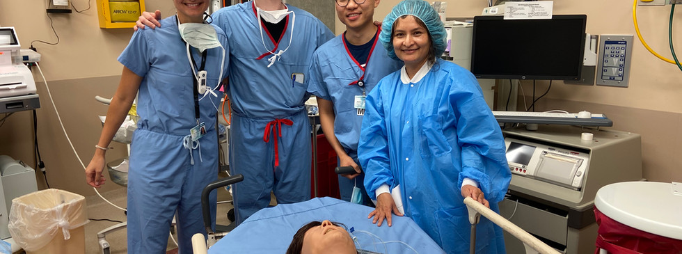 Each month with the help of our Simulation lab we run through various scenarios encountered in OB Anesthesia