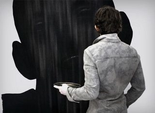 Drawing, charcoal on paper, cca. 150x150 cm